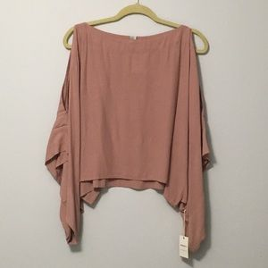 Forever 21 Contemporary Open-Sleeve Blouse